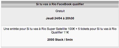 Qualification pour Si tu vas à Rio 2014