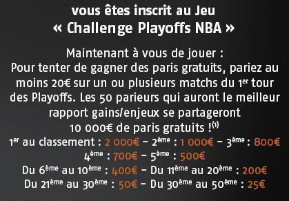 playoffs NBA sur pmu.fr