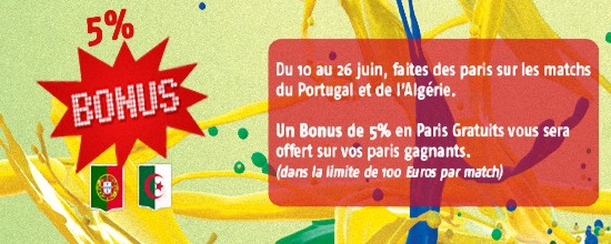 portugal algérie gains pmu