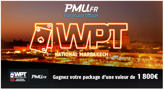 packages WPT Marrakech sur pmu.fr
