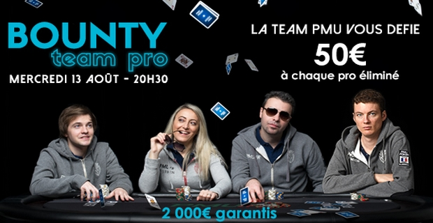 tournoi de poker bounty PMU team pro