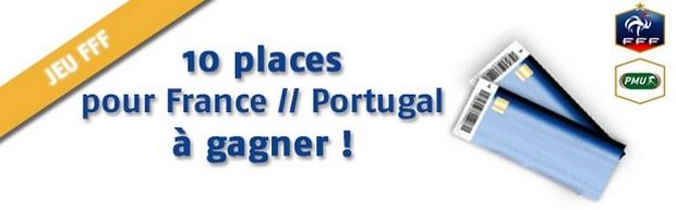 Gagner des places pour France - Portugal avec PMU.fr