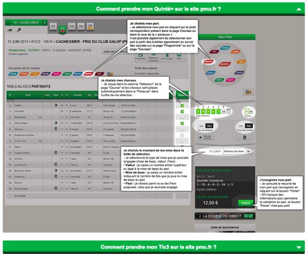 Guide du quinté sur PMU.fr