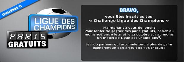 Pariez sur la Ligue des Champions avec PMU