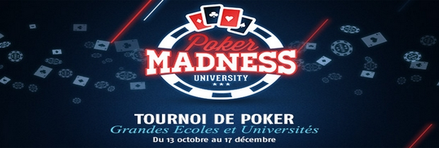 tournoi de poker PMU poker madness university