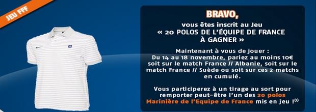 20 polos de l'équipe de France à gagner sur PMU