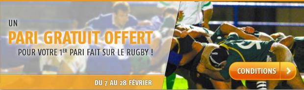 Pari gratuit offert sur le rugby avec PMU