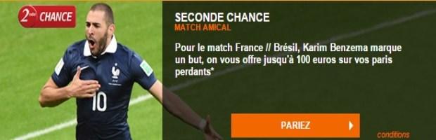 Seconde Chance France-Brésil