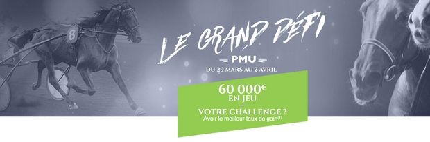 Challenge grand défi sur PMU turf