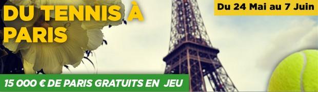 PMU challenge tennis Roland-Garros