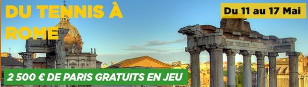 Challenge tennis Rome PMU