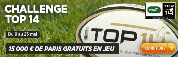 Top 14 rugby sur PMU