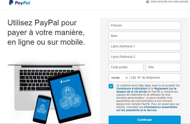 Ouvrez un compte Paypal pour PMU