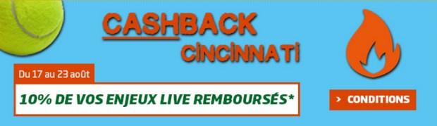 Cashback Cincinnati sur PMU