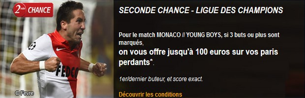 seconde chance monaco young boys pmu