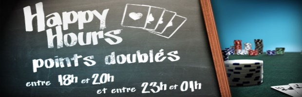 Happy Hours sur PMU Poker