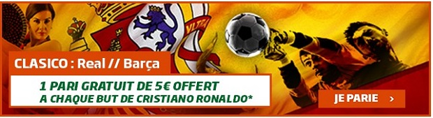 Real Barcelone 5€ offerts si Ronaldo marque