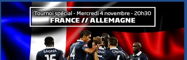 Tournoi spécial France-Allemagne sur PMU Poker