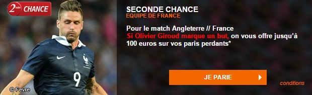 Seconde chance Angleterre-France sur PMU