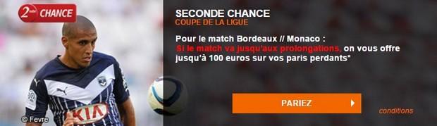 Seconde chance PMU sur le match Bordeaux-Monaco