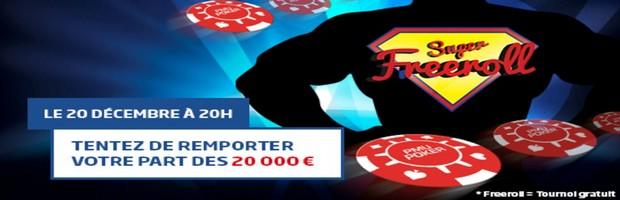 20.000 euros en jeu avec le freeroll de PMU