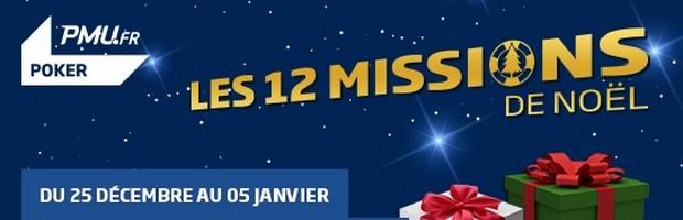 12 missions de Noël sur PMU Poker