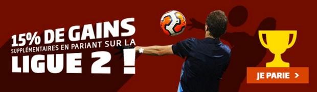 Pariez sur la Ligue 2 avec PMU