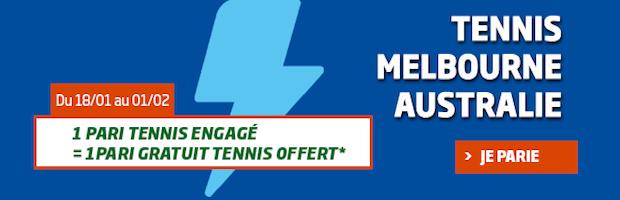 Tournoi de tennis de Melbourne sur PMU