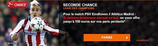 Offre PSV-Eindhoven-Atletico Madrid
