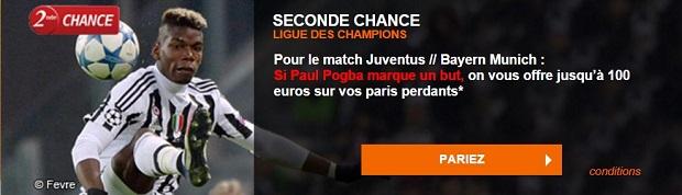 Seconde Chance Juventus-Bayern Munich sur PMU
