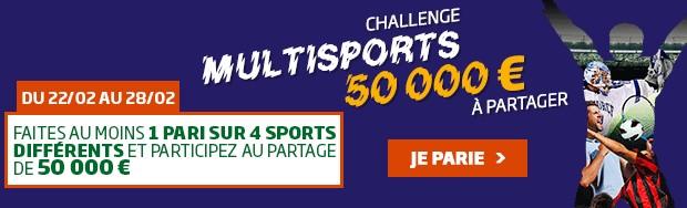 Le Challenge Multisports sur PMU en février