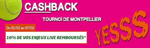 PMU tournoi tennis de Montpellier