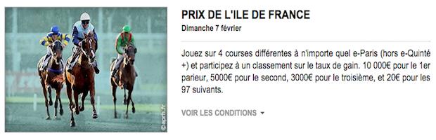 Prix Ile de France turf PMU