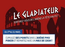 Offre gladiateur sur PMU poker