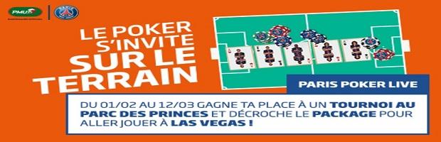 Paris Poker Live avec à PMU