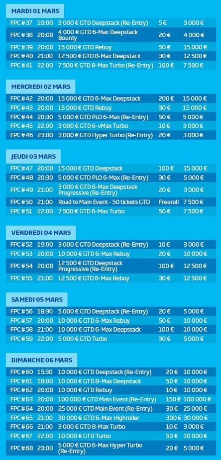 Tournois des FPC de PMU 2016