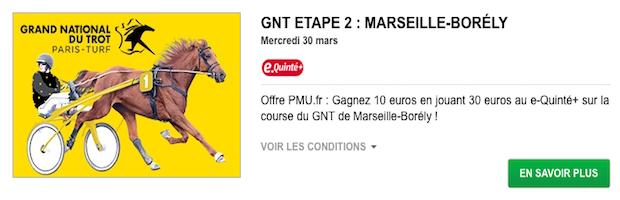 GNT Marseille-Borely sur PMU turf