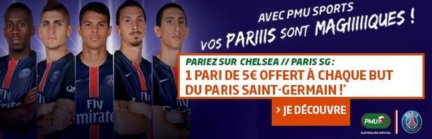 Pariez sur Chelsea-PSG en LDC avec PMU