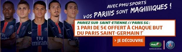ASSE/PSG avec PMU sport