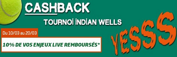 Le Tournoi de tennis d'Indian Wells sur PMU