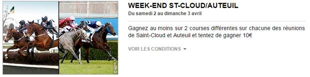 Week-end Saint-Cloud/Auteuil sur PMU Turf