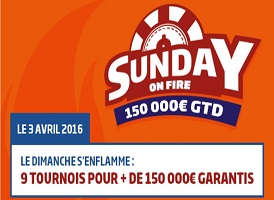 "Promo ""Sunday on Fire"" du 28 mars au 3 avril"