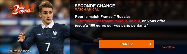 France/Russie : Seconde Chance avec PMU