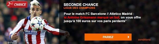 Seconde chance Barça/Atletico PMU