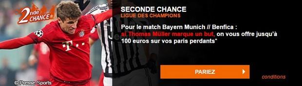 Seconde chance Bayern/Benfica sur PMU