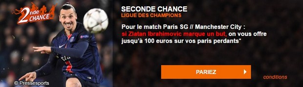 Seconde chance sur Paris/Manchester City avec PMU