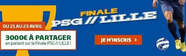 PMU : la finale de la Coupe de la Ligue PSG/Lille