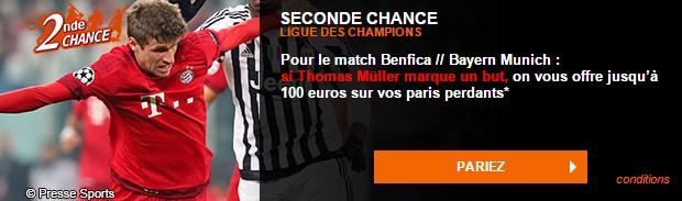 Seconde Chance PMU sur Bayern/Benfica