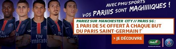 Manchester City-PSG en LDC avec PMU.fr