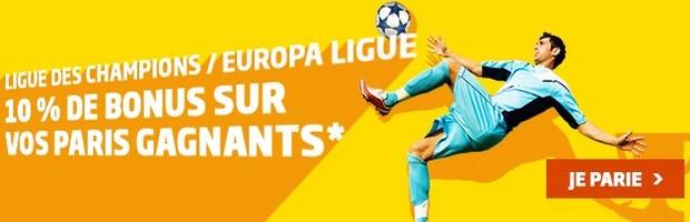 Les 1/4 de finales des Coupes d'Europe aller sur PMU